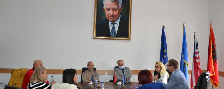 Rector Nimani met with representatives of local institutions